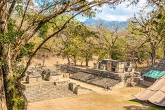 View at the West Court of Copan in Honduras stock image