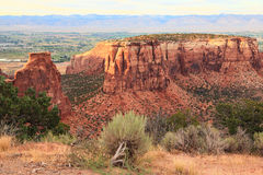 Colorado National Monument. View from the west entrance of Colorado Colorado National Monument stock photos