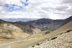 A view West from Ganda-la Pass Royalty Free Stock Image