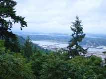 View from he West Hills to Portland OR. View from he West Hills to Portland OR and the Willamette River. USA royalty free stock photo