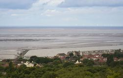 A View of West Kirby and the Marine Lake and Tidal Flats Stock Image