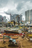 View of the West Kowloon Construction work in Hong Kong Stock Photo