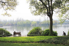 View in West Lake Cultural Landscape of Hangzhou Stock Image