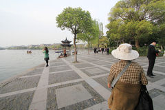 View in West Lake Cultural Landscape of Hangzhou Royalty Free Stock Photos
