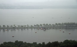 View of West lake in Hangzhou from the top Stock Images