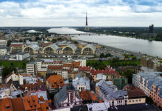 View on west part of Riga - capital of Latvia Stock Photography