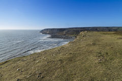 View west from Port Eynon, Gower Peninsula. Royalty Free Stock Image