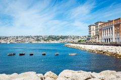 View of the coast of Naples, Italy. Royalty Free Stock Photography