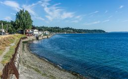 West Seattle Coastline 3. A view of the West Seattle coastline stock photography