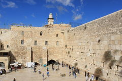 View of the west wall in Jerusalem Stock Photos