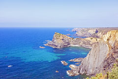 View at the westcoast from Portugal. Europe Royalty Free Stock Photos