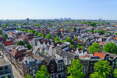 View from the Westerkerk, Amsterdam, Netherlands Royalty Free Stock Image