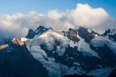 View of the Western Caucasus. Mount Belalakaya, Western Caucasus, Russia stock photos
