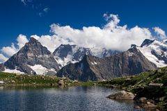 View of the Western Caucasus Royalty Free Stock Photos
