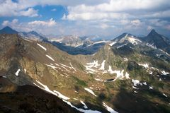 View of the Western Caucasus. Russia Royalty Free Stock Images