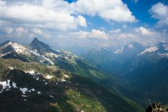 View of the Western Caucasus. Russia Stock Photo