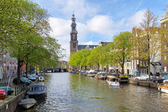 View of the Western church in Amsterdam Stock Photography