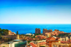 A view of the western part of Monaco royalty free stock photos