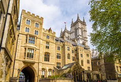 View of Westminster Abbey in London Royalty Free Stock Photos