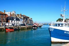 View of Weymouth harbour. Royalty Free Stock Photos