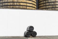 View of a whisky distillery Royalty Free Stock Photography
