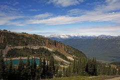 View from Whistler-Blackcomb BC Royalty Free Stock Images