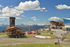 A view of Whistler mountain resort. Stock Images