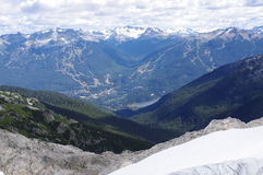 View of Whistler from Rainbow Mountain stock photo