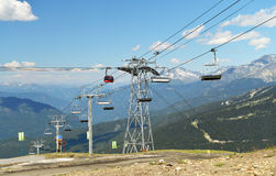 A view of of Whistler's cable transport network. Stock Photography