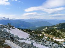 View from Whistler in the summer Stock Photo