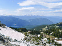 View from Whistler in the summer Stock Images