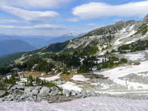 View from Whistler in the summer Royalty Free Stock Images