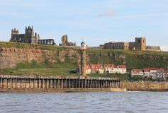 A View of Whitby Abbey From the Sea Stock Images