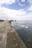 View from Whitby harbour sea wall Stock Photos