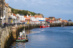 View of Whitby quayside Stock Photos