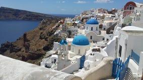 View white Blue  Greece Stock Photo