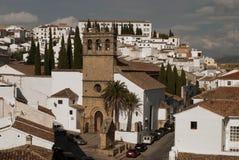 View of white city Ronda Stock Image