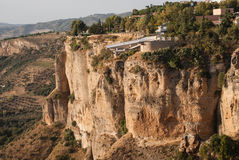 View of white city Ronda Stock Photo