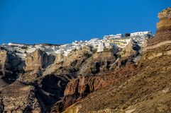 View of the white city of Santorini Island royalty free stock photos