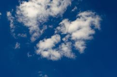White clouds on blue sky. View of white clouds on a blue sky stock photos