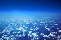 View of white clouds Royalty Free Stock Images