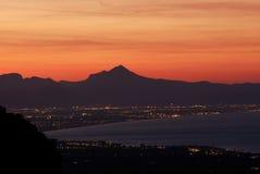View of the white coast, Alicante, Spain Stock Image