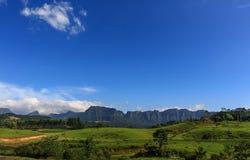 A view of Corvo Branco's montain range Royalty Free Stock Photo