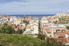 View of the white houses of Chania city from above, Crete, Greec Royalty Free Stock Images