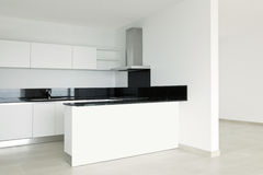 View of white kitchen Stock Images