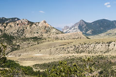 View of White Mountain. View of the mountains and valleys along the Chief Joseph Scenic Byway in Wyoming Stock Photos
