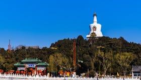 White Pagoda in Beihai Park,Beijing, China. Royalty Free Stock Photos