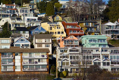View of White Rock Residential. Neighborhood on Marine Drive Royalty Free Stock Image