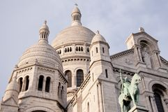View of the white Sacre Coeur in Paris Stock Photo