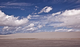 View of White Sands National Monument. This is a view of White Sands National Monument royalty free stock photos